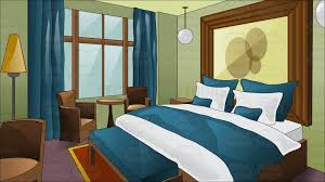 a fancy hotel room with king size bed