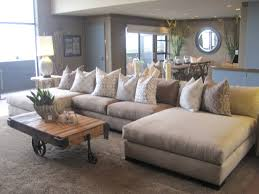 Extra Deep Seated Sectional Sofa by Furniture Cozy Living Room Using Stylish Oversized Sectional