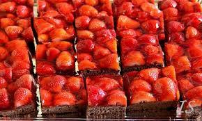 erdbeer schokokuchen