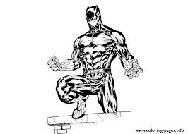 Black Panther Marvel Coloring Pages Printable
