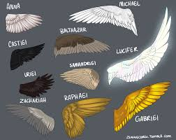 Supernatural Spn Gabriel Balthazar Lucifer Angel Wings Fanart Too Many Angels To List Of Well I Thought Lucifers Was Pink And Sparkly