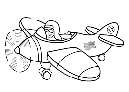 Transportation For Kids Coloring Pages Airplanes Color