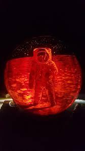 Easy Shark Pumpkin Carving buzz aldrin pumpkin neatorama