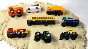 Learning Vehicles Names For Kids - Street Vehicles School Bus, Dump ...