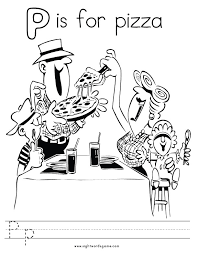Letter P Coloring Page 2