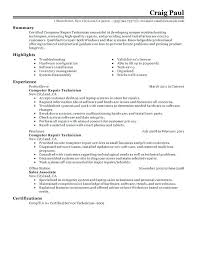 Sample Resume Skills For Computer Hardware Professional And Repair Technician Create Astounding