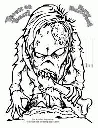 Scary Halloween Coloring Pictures To Print by Scary Halloween Coloring Pages For Kids 00 Pinterest Throughout