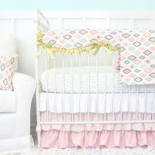 alexis aztec gilded arrow bumperless crib bedding caden lane