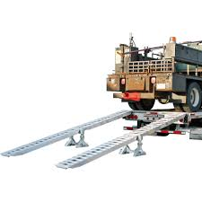 100 Step Deck Truck Modular Trailer Ramp System 10000lb Per Axle Capacity