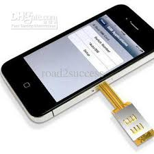 dual Sim Card Adaptor Adapter for iphone 4 without Back Cover 2018