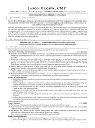 Resume Examples For Director Of Operations With Security