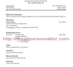 Resume Templates For College Students With No Work Experience Examples