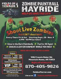 Halloween Express Conway Ark by Fields Of Terror Zombie Paintball Hayride Tickets Multiple Dates