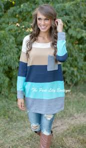 A Chill In The Air Colorblock Sweater Navy