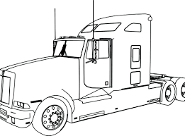 Best Semi Truck Coloring Page Top Ideas #1446