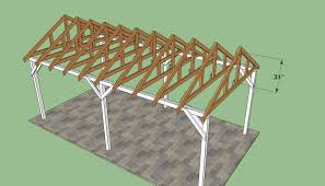 Slant Roof Shed Plans Free by How To Build A Carport Easy To Follow Plans And Instructions For