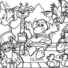 Animals Zoo Party Coloring Pages Free