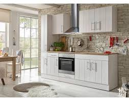 respekta premium küchenblock landhaus 240 cm korpus front lärche weiß nachbildung arbeitsplatte wildeiche nachbildung