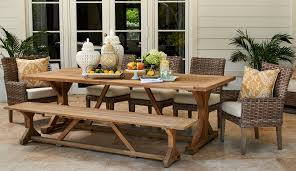 Carls Patio Furniture Fort Lauderdale by Fifth And Shore Outdoor Furniture Siesta Teak Dining Set
