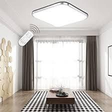 etime led deckenleuchte dimmbar deckenle led modern wohnzimmer le schlafzimmer küche panel leuchte 2700 6500k mit fernbedienung silber 53x53cm