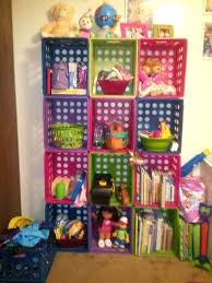 Milk Crate Shelves Kids Room With Plastic Storage Shelving Unit