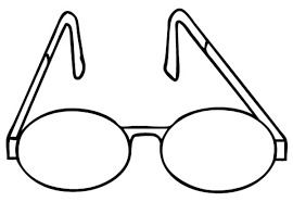 Eyes Simple Design Eyeglasses Colouring Page