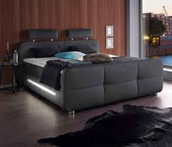 places of style boxspringbett inkl topper und led beleuchtung
