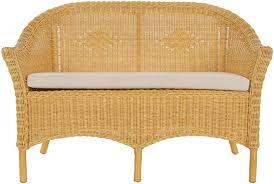 korb outlet rattanbank primavera mit sitzpolster sitzbank wintergarten sofa zweisitzer bank aus rattan honig