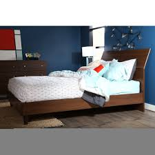 King Platform Bed With Headboard by Mid Century Wooden King Platform Bed Frame With Tapered Legs And