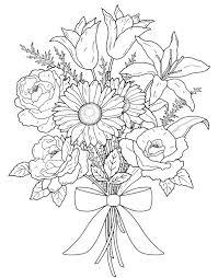 Flower Bouquet Coloring Pages 2 25 Best Ideas About On Pinterest