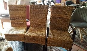 3 geflochtene korbstühle korbsessel esszimmer stühle