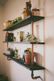 diy copper u0026 wood shelf wood shelf shelves and woods