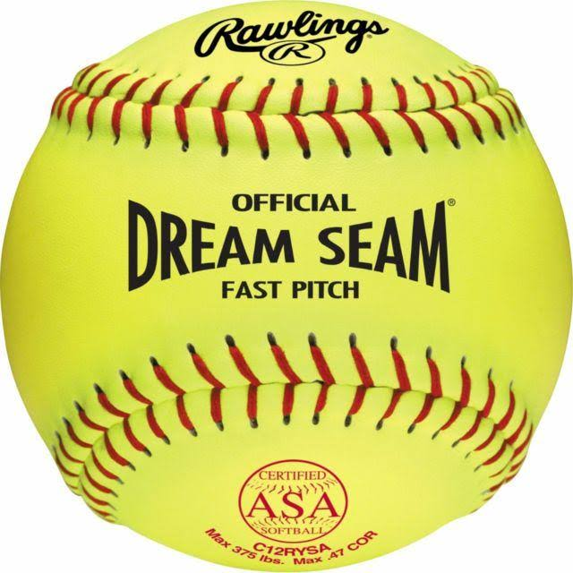 Rawlings Dream Seam Softballs Pack - 12pk