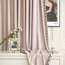 licht luxus stil vorhänge für wohnzimmer bedroomtransverse prozess samt vorhang nach schmutzig rosa rosa farbe
