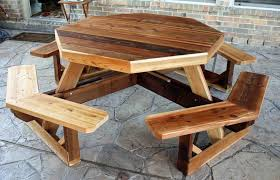 Attractive Rustic Outdoor Table And Chairs Furniture In Perfect Harmony Style