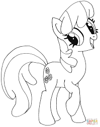 Awesome My Little Pony Unicorn Coloring Pages Of Your Favorite