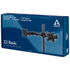 arctic z2 basic desk mount dual monitor arm with vesa mount for 13