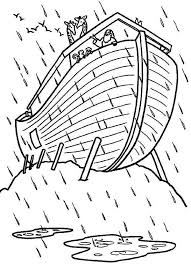 Ark Coloring Pages To Print Noah Rainbow View Larger