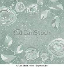Vintage Flower Template Floral Background Eps 8 Vector