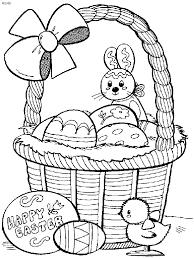 Easter Egg Basket Coloring Pages 05