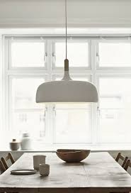 Large Oversized Pendant Light Above The Dining Table
