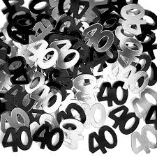 black and silver 40th birthday decorations criolla brithday