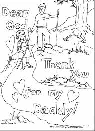 Good Fathers Day Printable Coloring Pages With Free Christian And