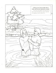 Top Jesus Baptism Coloring Page Has