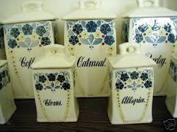 Ceramic Kitchen Canister Sets Vintage German Ceramic Kitchen Canister Set Sale 31179842
