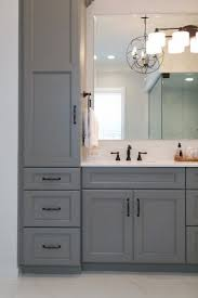 Bathroom Vanity With Tower Pictures by Best 25 Gray Bathroom Vanities Ideas On Pinterest Grey Bathroom