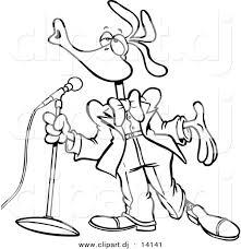 Vector Of Cartoon Singing Bird