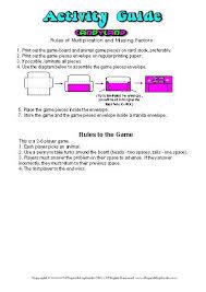 CandyLand Missing Factors Rules Of Multiplication Game