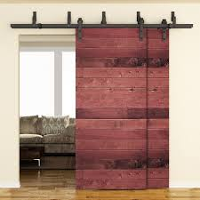 Amazon.com: SMARTSTANDARD 6.6FT Bypass Double Door Sliding Barn ... Bypass Sliding Barn Door Kit Hdware Awesome 60 Garage Doors Inspiration Design Of 22 Knobs The Home Depot Top Mount Style On Size Latches Closet Track Everbilt Wonderful Double Pocket Stanley Ideas Durable Rebeccaalbrightcom Bypass Sliding Barn Door System A Diy Fail Domestic