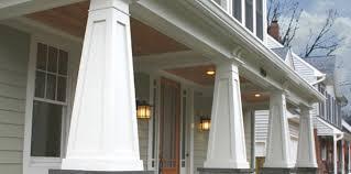 Tapered Porch Columns Square Column Wraps Pacific Inc 16 PVC Curb
